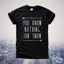 YOU KNOW NOTHING JON SNOW T-SHIRT GAME THRONES TUMBLR RIP NEW HODOR FASHION TOP