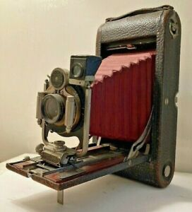 """1920's Kodak Folding Camera No.2A """"Red Bellows"""" As Found Used For Parts As-Is!"""
