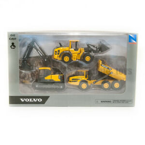 """Volvo Construction Vehicles Pack of 3 NewRay size approx 5"""" Toys Gift"""