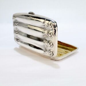 Antique Art Nouveau Sterling Silver Cigar Case by Unger Brothers - SL