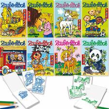 8 Zauberblöckchen + Stifte Malbuch Mitgebsel Kinder Kindergeburtstag Lutz Mauder