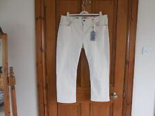 Fat Face - Ecru - Denim Cropped Jeans - Size 18 - RRP £45