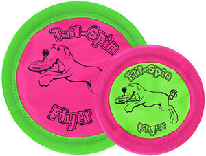 booda Tail-Spin Flyer Floating Flying Fetch Flippy Frisbee Disk Flopper Dog Toy