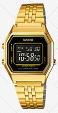 Casio LA-680WGA-1B Ladies Gold Tone Digital Watch Mid-Size Retro Vintage New