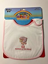 Museum Of The Bible Pink Little Lamb Baby Bib ~ Adorable!