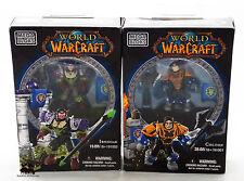 Lot 2 Figurines Jeu MEGA BLOKS World of Warcraft Ironoak Colton WOW