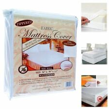 Full  Size Fabric Mattress Protector Zippered Waterproof Bed Bug FREE SHIPPING
