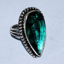 Dominican Green Tourmaline Gemstone 925 Silver Jewelry Ring 9