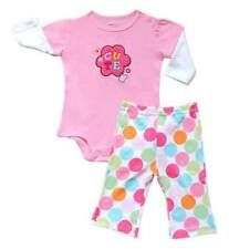"Carter's 2-pc Bodysuit & Pull-On Pants Set Baby Girl Clothes ""Cute"", Newborn"