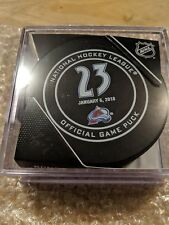 MILAN HEJDUK Official Retirement Puck  COLORADO AVALANCHE