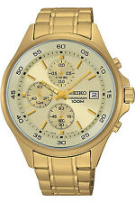 SEIKO SKS482P1,men's chronograph,stainless steel,gold tone,date,100m WR,SKS482