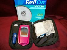 RELION Red Diabetes Management System Glucose Monitor Meter