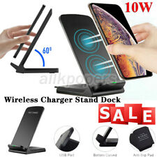 Qi Wireless Charger Fast Charging Stand Dock For iPhone 8 X XS XR 11 12 Pro Max