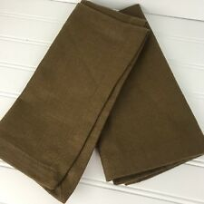 "Crate and Barrel Cloth Napkin CoCoa Brown 21"" x 21"" Brand New Never used set 2"