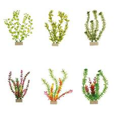 6 x Trixie Plastic Aquarium Plants Fish Tank Decorations with Sand Base - 30 cm