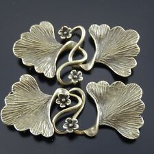 3pcs Vintage Bronze Leaf Look Brass Charms Clasp Pendant Jewelry Craft Findings