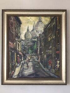 FINEST PASCAL CUCARO MODERN ABSTRACT IMPRESSIONIST OIL PAINTING 60s CORY GALLERY