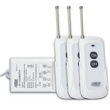 3000W High Power 1 CH Wireless 3 Remote Control Power Switch Long Distance 30A