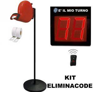 KIT ELIMINACODE - DISPLAY A 2 CIFRE TELECOMANDO PIANTANA DISTRIBUTORE TICKET