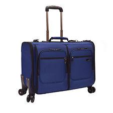 "US Traveler Stimson 23"" Blue Carry-on 4x Wheeled Spinner Rolling Garment Bag"
