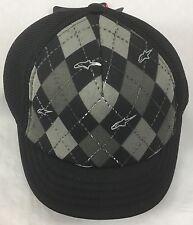 Alpinestars Alpine Star 4W Argyle S. Bill Hat 621035 Mesh Hat Black OneSize NWOT
