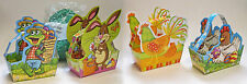 Small Basket Easter Cardboard Grass Set Eggs Bunny Rabbit