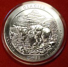 2011 ATB GLACIER NATL PARK DESIGN .999% 5 OZ SILVER ROUND BULLION COLLECTOR COIN