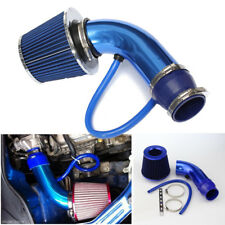 "3"" Blue 76mm Aluminum Car Cold Air Intake Induction Pipe Hose Cone Filter Kit"
