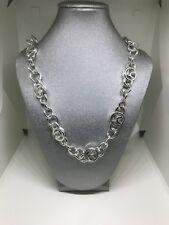 Liz Claiborne Signature Silver Tone Chain Link 22 Inch Necklace