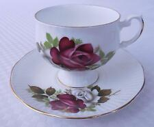 Royal Dover Bone China Cup & Saucer with Roses