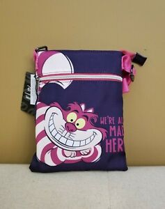 Loungefly Disney Alice In Wonderland Cheshire Cat Passport Crossbody Bag NEW