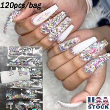 120Pcs Multi Shapes Glass Crystal Ab Rhinestones Nail Art Craft Mix Styles Decor
