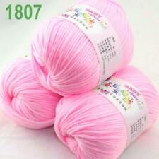 Venta NUEVO 6 skeinsx 50 Gr Suave de Bambú Algodón Bebé Hand Knit chales hilo de ganchillo 03