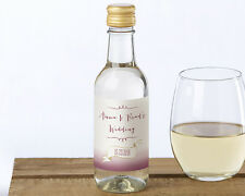 24 Vineyard Theme Personalized MINI Wine Bottle Labels Wedding Favors
