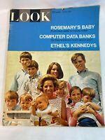 Look Magazine Vintage June 25,1968 Rosemary's Baby, Computer Data Banks...
