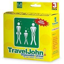 TravelJohn Disposable Urinal for Men, Women - Children 3 ea (Pack of 2)