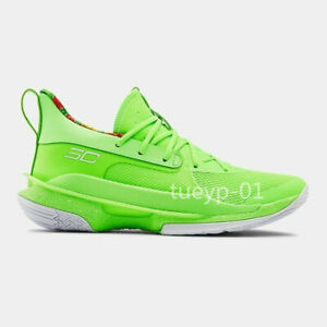 Green Under Armour Curry 7 Training Basketball Shoes Size US6-US11