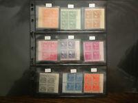 US SCOTT # 803-833(832-LINE BLOCK) 1938 PRESIDENTIAL SERIES PLATE BLOCKS NH OG