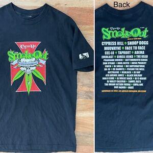 Vintage '02 Cypress Hill Smoke Out T shirt sz L Snoop Dogg Mudvayne Face To Face