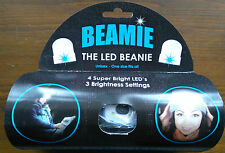 Beamie Beanie Hat With LED Torch Light One Size Camping Cycling Outdoors Gift UK Grey