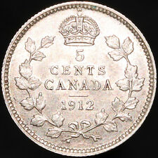 More details for 1912 | canada george v 5 cents | silver | coins | km coins