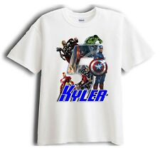 Avengers Captain America Personalized - Birthday T-Shirt Party Favor