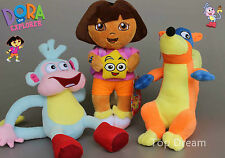 3X DORA The Explorer Swiper Fox Boots The Monkey Plush Toy Stuffed Doll 10'' New