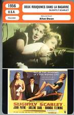 DEUX ROUQUINES DANS LA BAGARRE - Fleming (Fiche Cinéma) 1956 - Slightly Scarlet