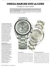 Publicité advertising  2012 OMEGA montre marche sur la lune the moon-walker