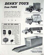 1962 Dinky Toys (Paris) ADVERT 'Berliet Fiat Truck' Etc. - Original Print AD