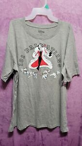 NEW♈Junior's Printed SS T shirt  by Disney size L~grey/red/black 101 Dalmations