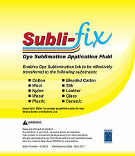 A4 Dye Sublimation Subli MULTI Fix Cotton coating fluid adheres on most surfaces