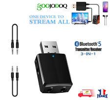 Bluetooth sans fil Audio Récepteur Émetteur USB, adaptateur EDR 3 en 1 AUX 3,5mm