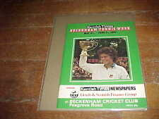 1982 Beckenham Lawn Tournament Tennis Program Robertson Cup Masters Cup Bowring